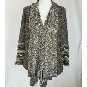 Anthropologie Gray Cardigan Sweater Large